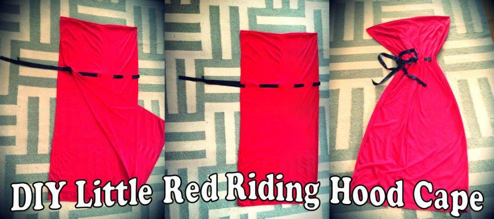 Easy Diy Hooded Cape Chapeuzinho Vermelho Aniversario