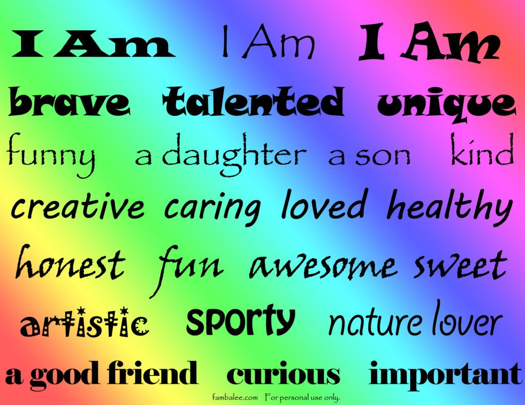 I Am Art Project For Kids