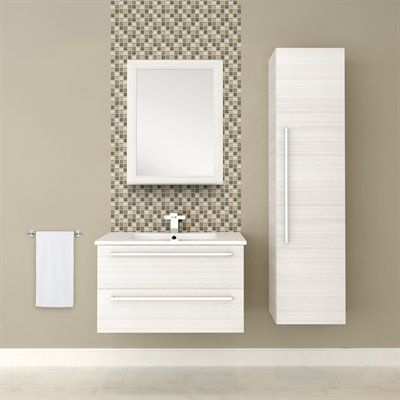 Cutler Kitchen U0026 Bath Silhouette Collection 30 In Wall Hung Vanity With Top