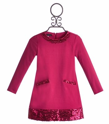 Biscotti Girls Holiday Party Dress in Fuchsia