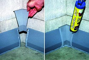 Easy to Install Pre-molded Corners