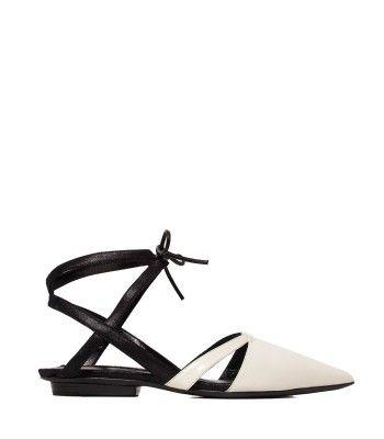 Narciso Rodriguez Bi-Color Flat - Pointed Toe Flat - ShopBAZAAR