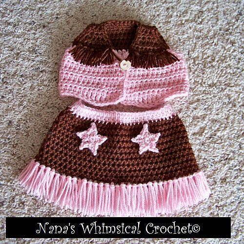 Crochet Cowboy Outfit Pattern Free Video Tutorial Pinterest