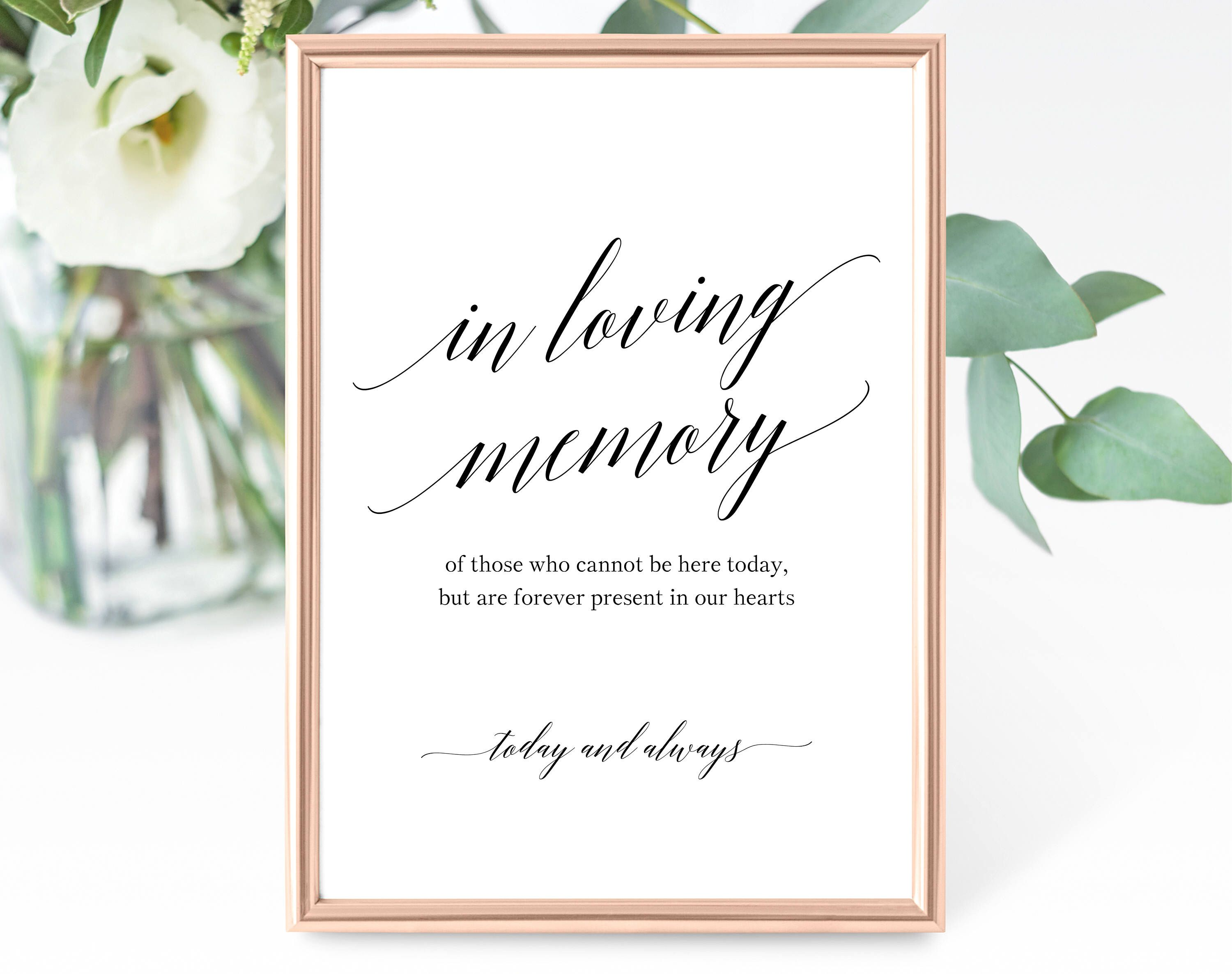 picture regarding In Loving Memory Free Printable titled Inside Loving Memory Indicator Template, Without end in just Our Hearts