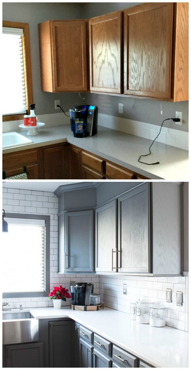 Kitchen Before and After Reveal - Inspiration For Moms