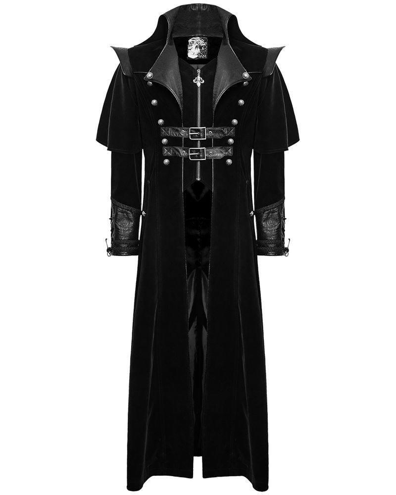 b399c8495 Punk Rave Mens Coat Long Jacket Black Gothic Steampunk VTG Regency ...