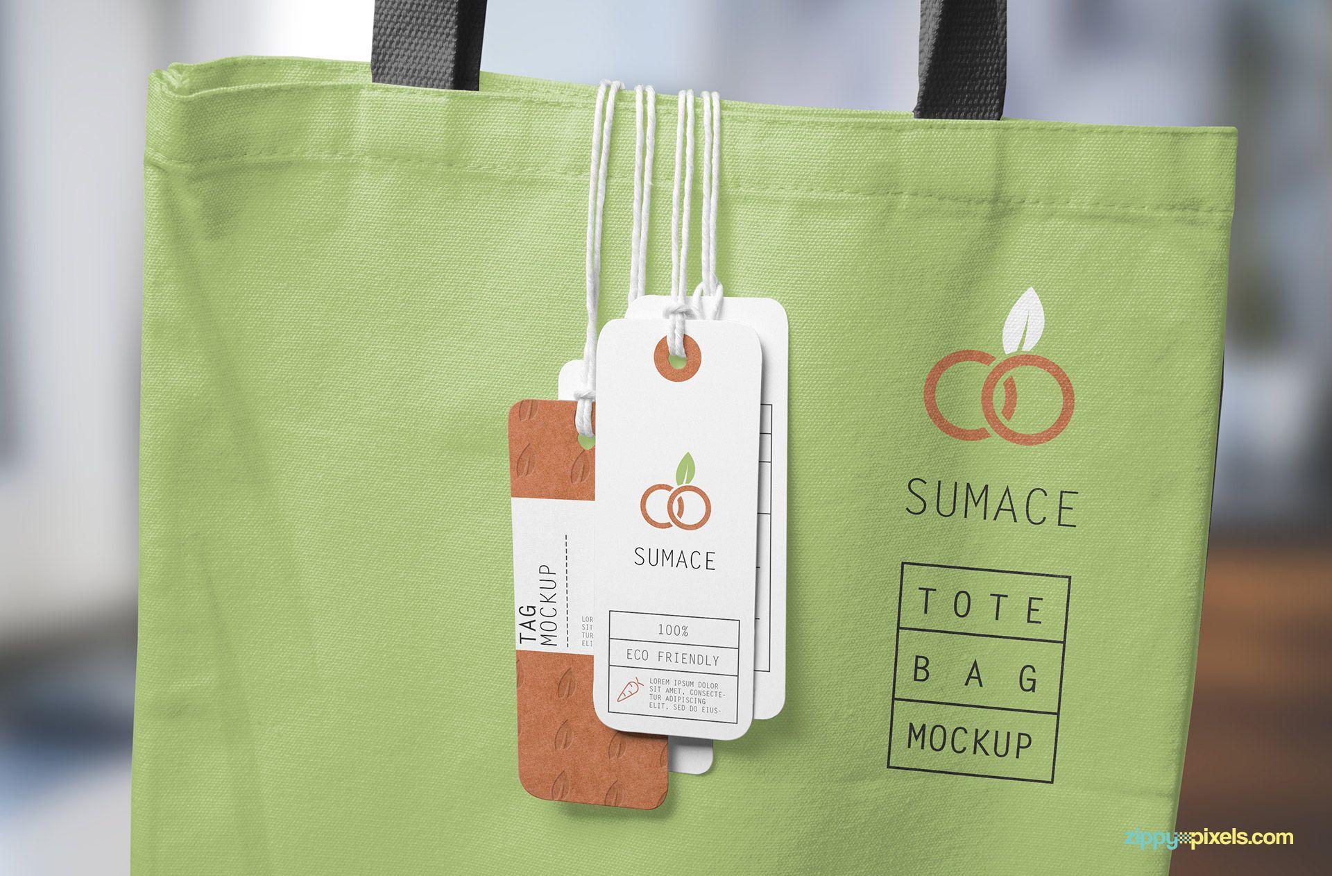 Download Free Hanging Tags Mockup Zippypixels Bag Mockup Templates Free Design Design Freebie