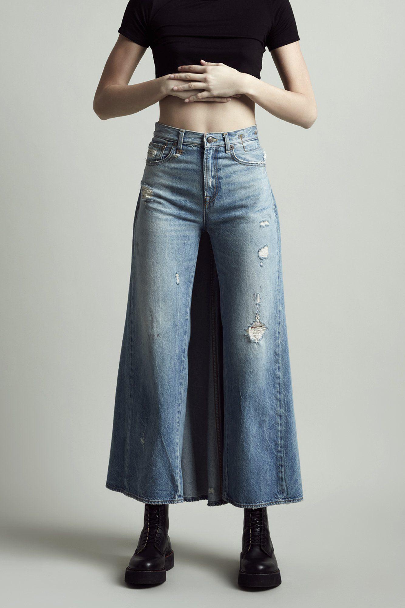 e44b6e9c33 Skirted Jean - Holly | DENIM ♡ in 2019 | Jean skirt, R13 denim, Skirts