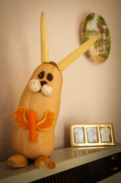 Alexandra's Wishes: fruit and vegetable animals (cocktail sticks to hold together)