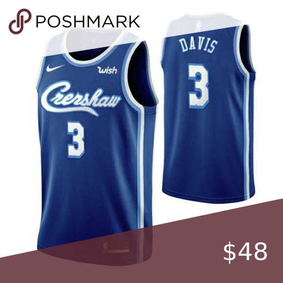 Los Angeles Lakers Anthony Davis Blue Jersey In 2020 Anthony Davis Los Angeles Lakers Nba Shirts