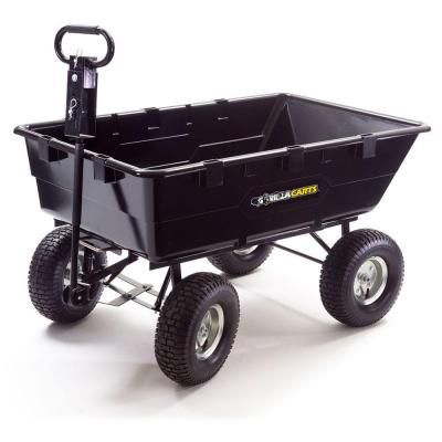 Gorilla Carts 10 Cu Ft 1200 Lb Heavy Duty Dump Cart Discontinued Gor2530 D The Home Depot Dump Cart Farm Yard Heavy Duty