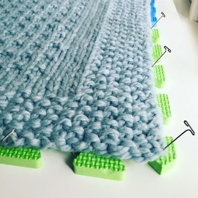 How To Block Hand Knit Blanket Knit With Super Bulky Yarn Photos