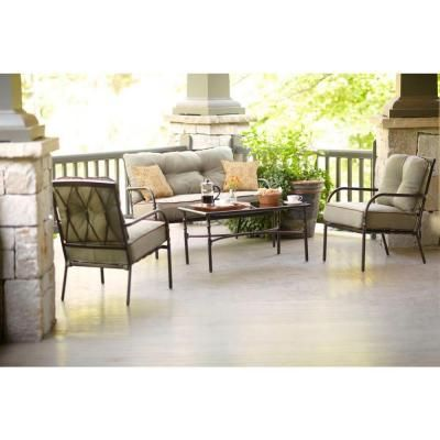 Martha Stewart Living Pacifica Collection 4 Piece Patio Chat Set 1 10
