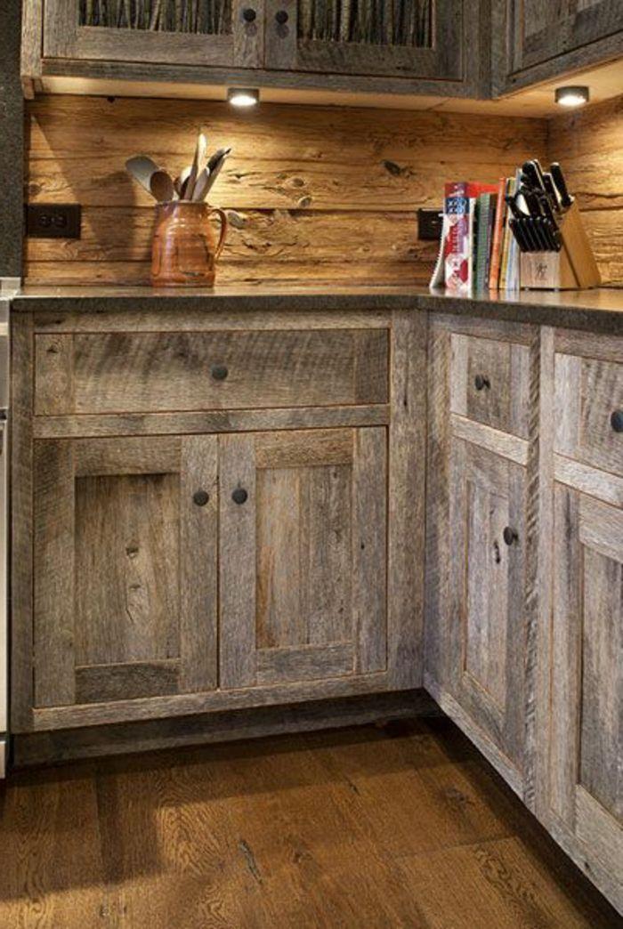 La Cuisine En Bois Massif En Beaucoup De Photos! Design ModerneQuelque ChoseWood  Kitchen CabinetsSpotsPleinBarn ...