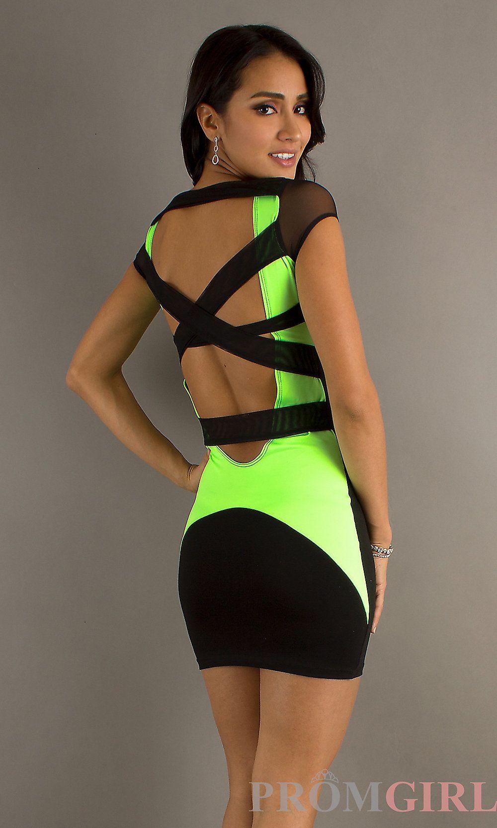 Lime Green Short Dresses