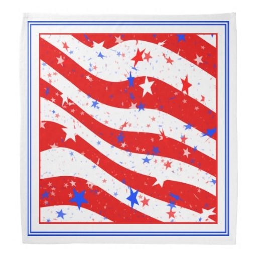 4 x Star Spangled American Bandanas 4th of July Independence Day Party Pack
