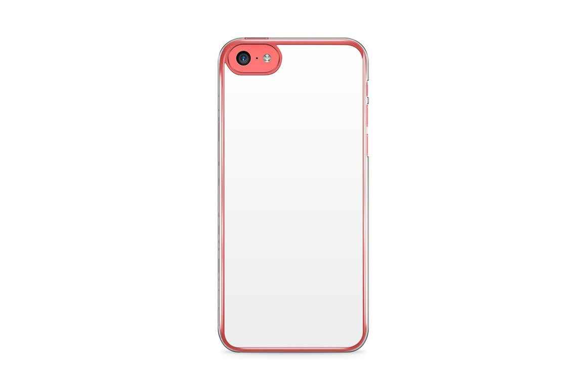 Apple iPhone 5C Mobile Clear Case Design Mockup PSD