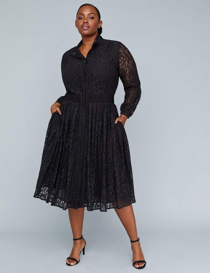 a6dc8b7b73e9c Lane Bryant Girl With Curves Pleated Lace Dress