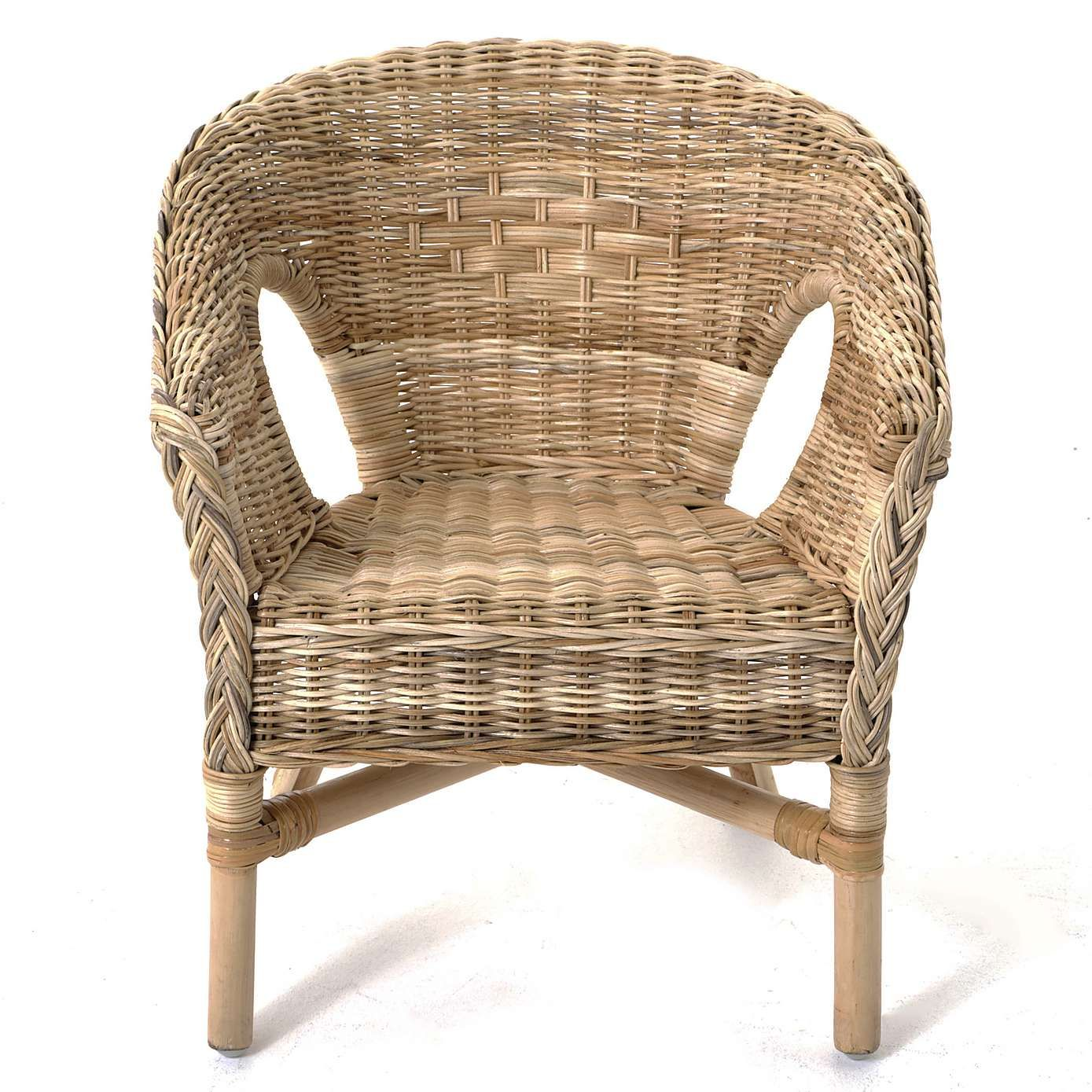 Kid Cafe Furniture: Kids Java Wicker Chair - Brown