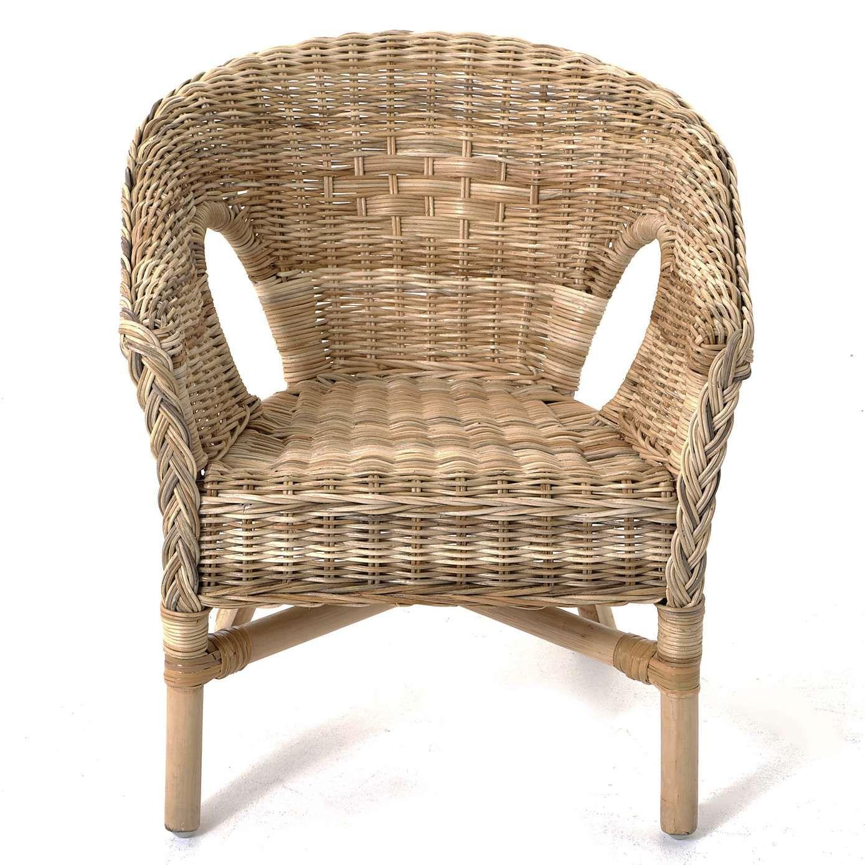Kids Java Wicker Chair - Brown