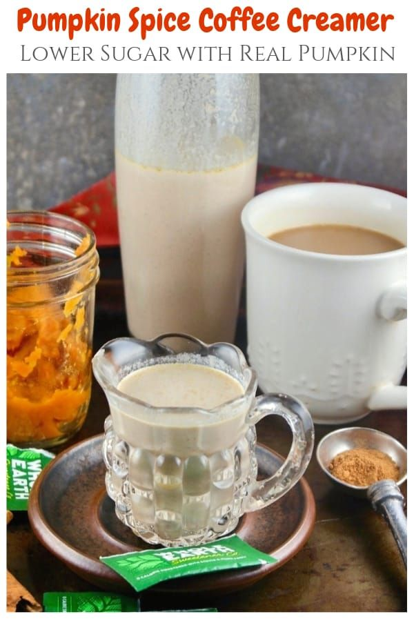 Lower Sugar Homemade Pumpkin Spice Coffee Creamer #pumpkinspiceketocoffee
