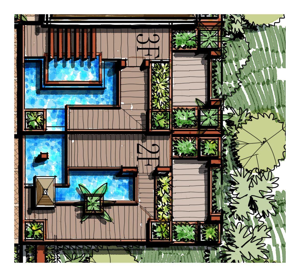 timber deck, water garden, pergola, trellis, pocket garden