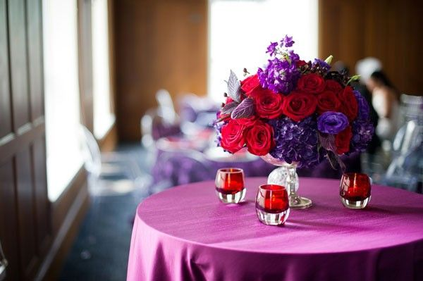 Vibrant Purple & Red Inspiration Session | Purple wedding and Wedding