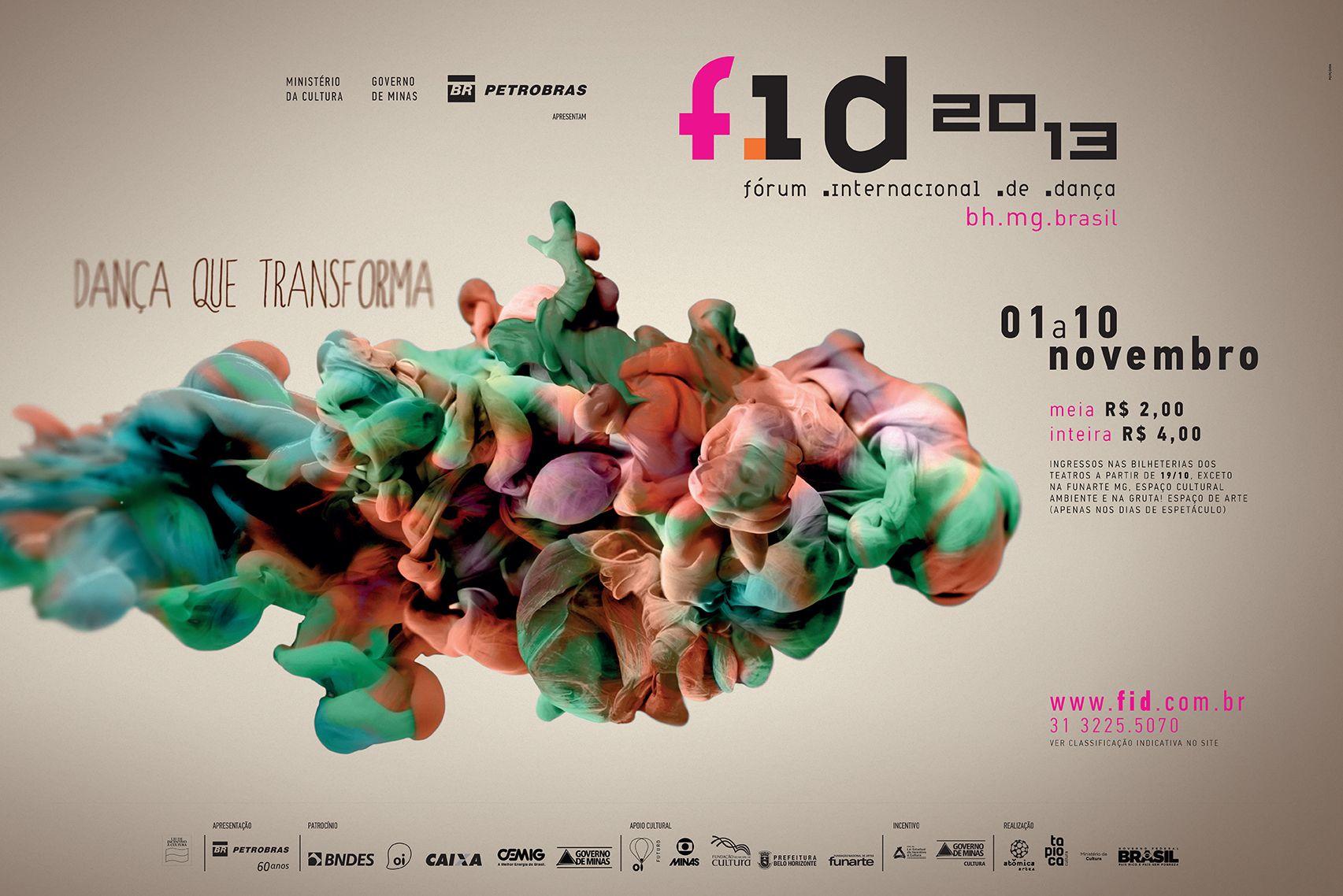 Cartaz para o FID - Fórum Internacional de Dança. Ouro no 3º Prêmio Minas de Comunicação.
