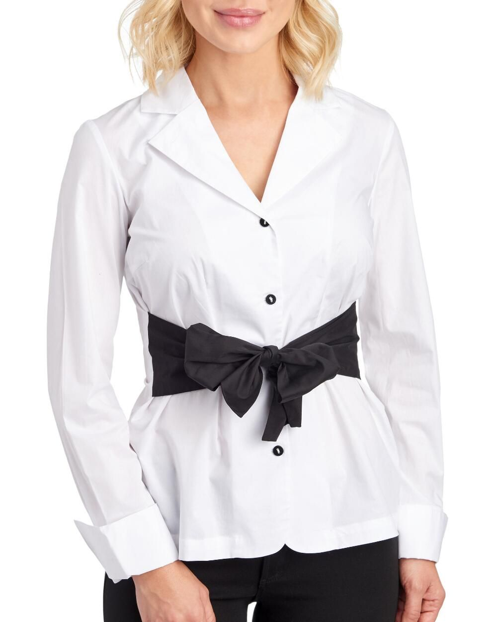 Notched Collar Tie Front Top Stein Mart Front Tie Top Fashion Clothes [ 1250 x 1000 Pixel ]
