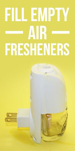 You Can Refill Your Empty Plug In Air Fresheners Diy Air Freshener Diy Air Freshener Refill Freshener Diy