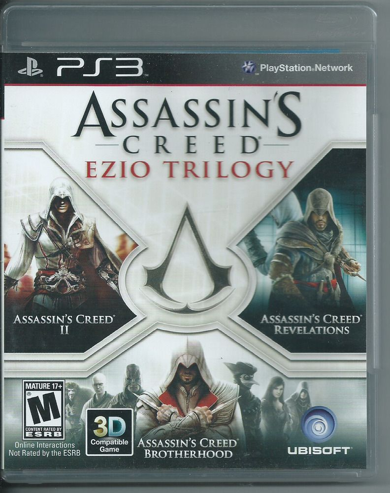 Assassin S Creed Ezio Trilogy Sony Playstation 3 2012 Complete