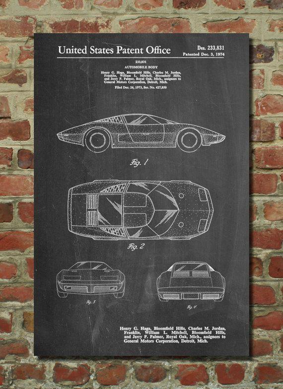 Corvette 70s model patent art print patent art blueprint corvette 70s model patent art print patent art blueprint patent print patentprints malvernweather Images