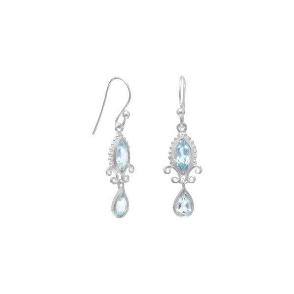 Multishape Blue Topaz Earrings 925 Sterling Silver