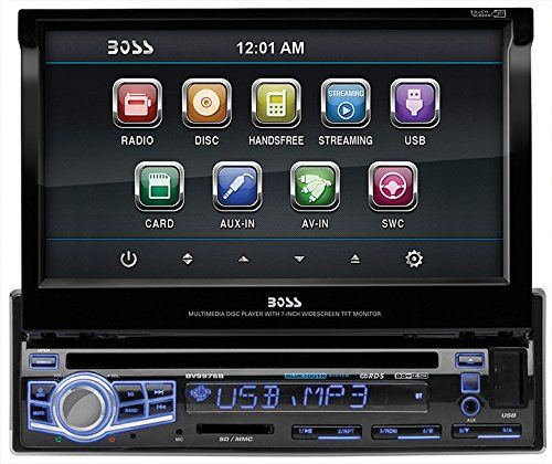 BOSS Audio BV9976B In-Dash Single-Din 7-inch Motorized Touchscreen DVD/CD/USB/SD/MP4/MP3 Player Receiver Bluetooth Streaming Bluetooth Hands-free with Remote  http://www.productsforautomotive.com/boss-audio-bv9976b-in-dash-single-din-7-inch-motorized-touchscreen-dvdcdusbsdmp4mp3-player-receiver-bluetooth-streaming-bluetooth-hands-free-with-remote-2/