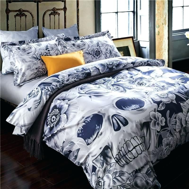 Skull Bedding Set Skull Comforter Set Queen Skull Bedding Sets