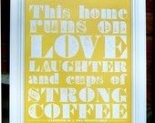"""""""Strong Coffee"""" poster for the kitchen. $12"""