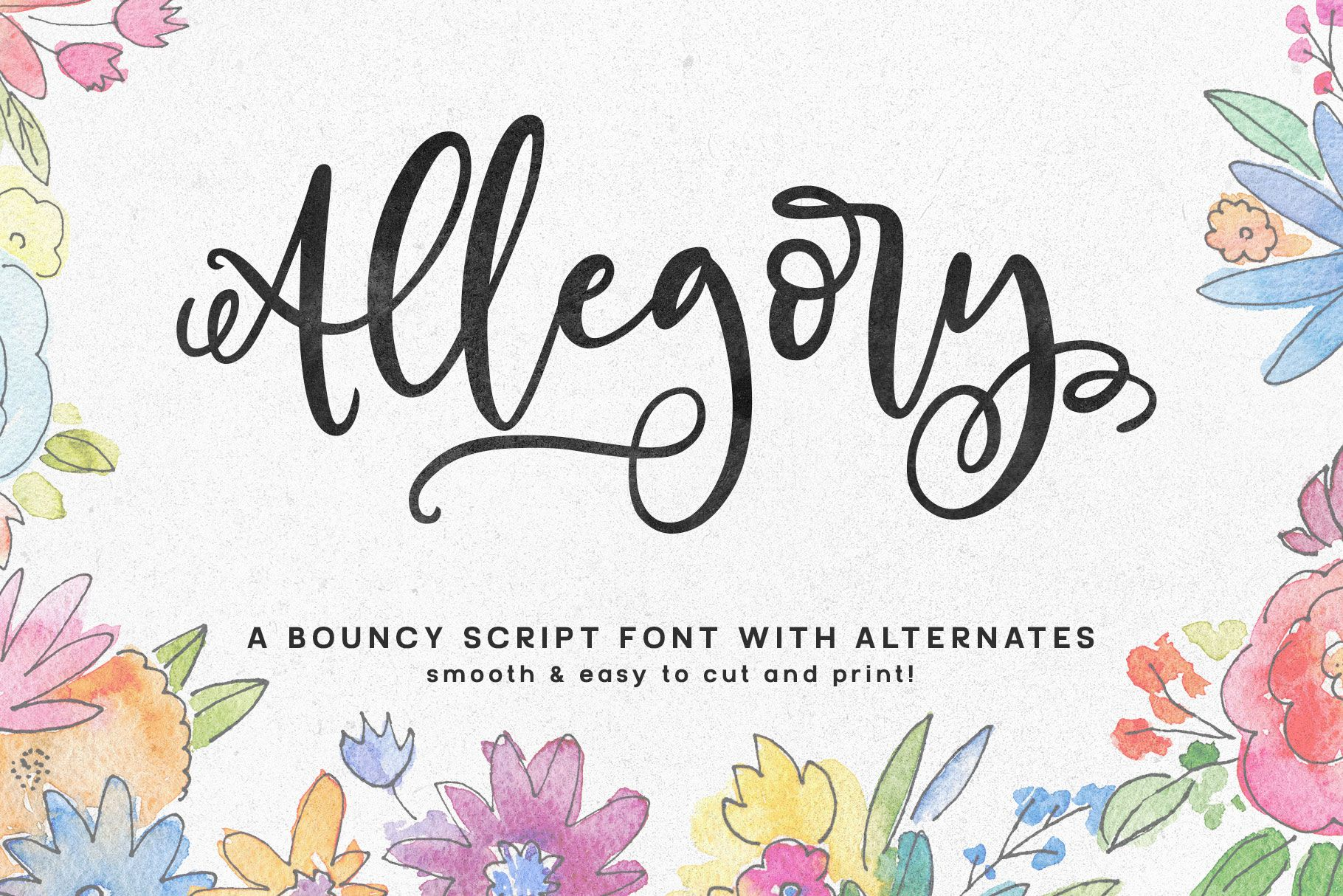 Allegory A Fun And Curly Script Font Script Fonts Fancy