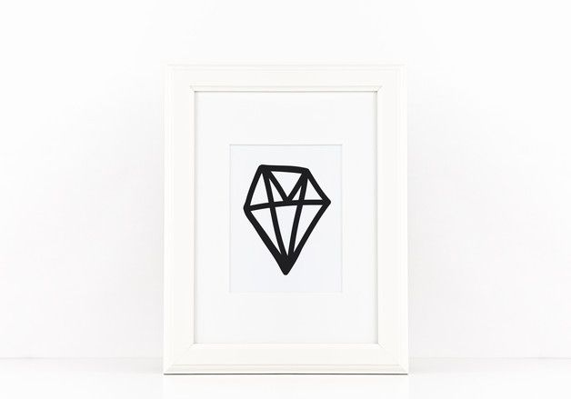 Print *DIAMOND* by A&O PRINTS – Papeterie * Lettering * HomeDecor | Poster, Postcards and more | Diamant, Wohnaccessoires, Walldecor, Interiorstyling, Wandbild