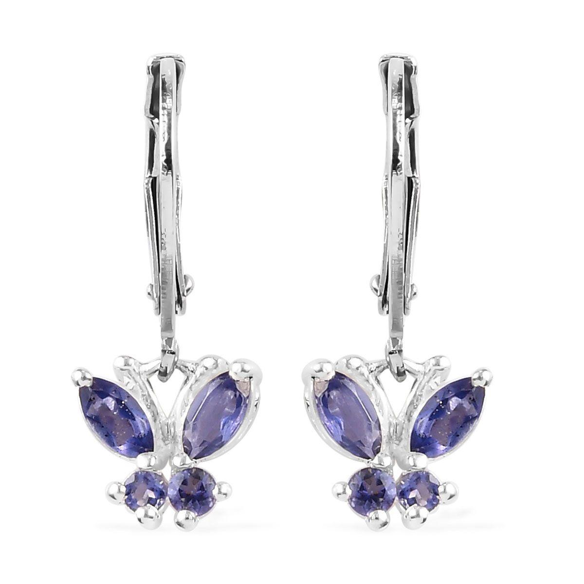 Amethyst /& Peridot Dangle Earrings 925 Sterling Silver Citrine