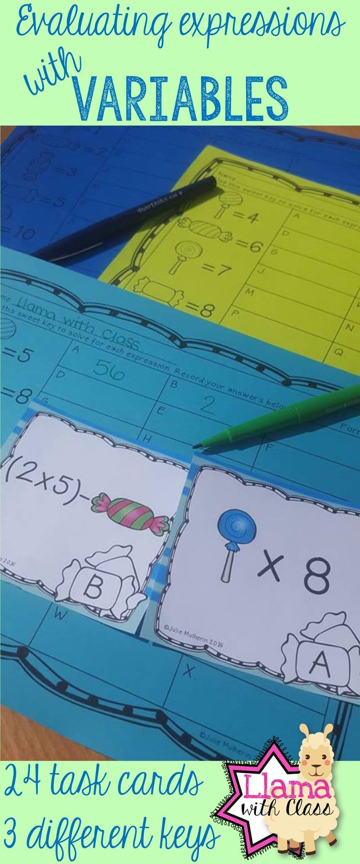 Evaluating Expressions with Variables | Maths, Elementary math and ...