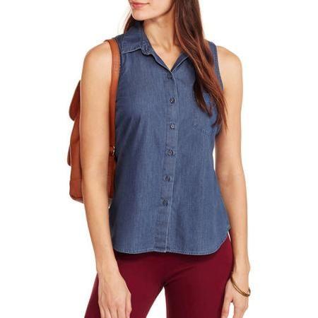39399053de3 Faded Glory Women s Classic Americana Sleeveless Button-Front Top - Walmart .com