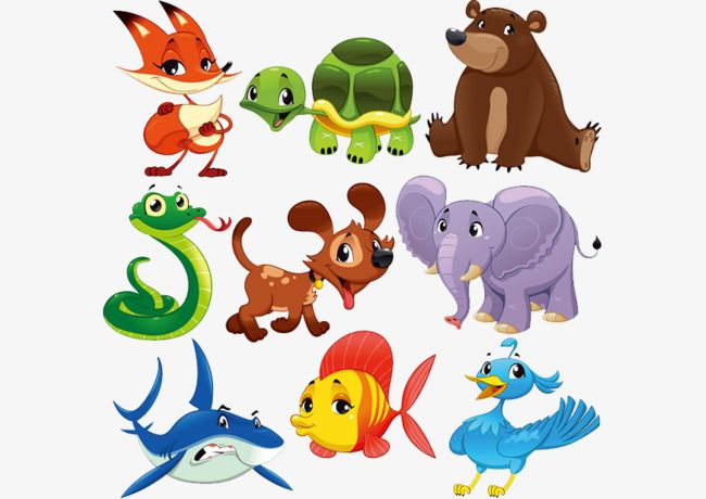 صور حيوانات كرتونية كرتون لون حيوان Png والمتجهات للتحميل مجانا Animals Kindergarten Art Cartoon Animals
