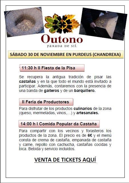 O 30/11 en Chandrexa (Parada de Sil) actividades relacionadas cun dos produtos típicos da Ribeira Sacra, a castaña.
