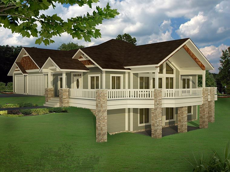 Traditional Style House Plan 85235 With 5 Bed 4 Bath 3 Car Garage Craftsman House Plans Craftsman House Basement House Plans