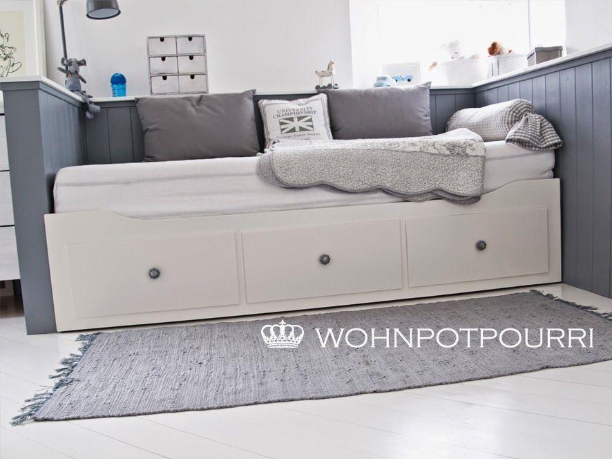Kids room ikea hack by wohnpotpourri hemnes daybed diy for Ikea sofa kinderzimmer
