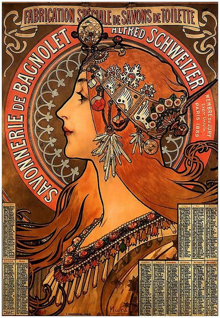 Alphonse Mucha- A decorative artist, who made posters and advertisements