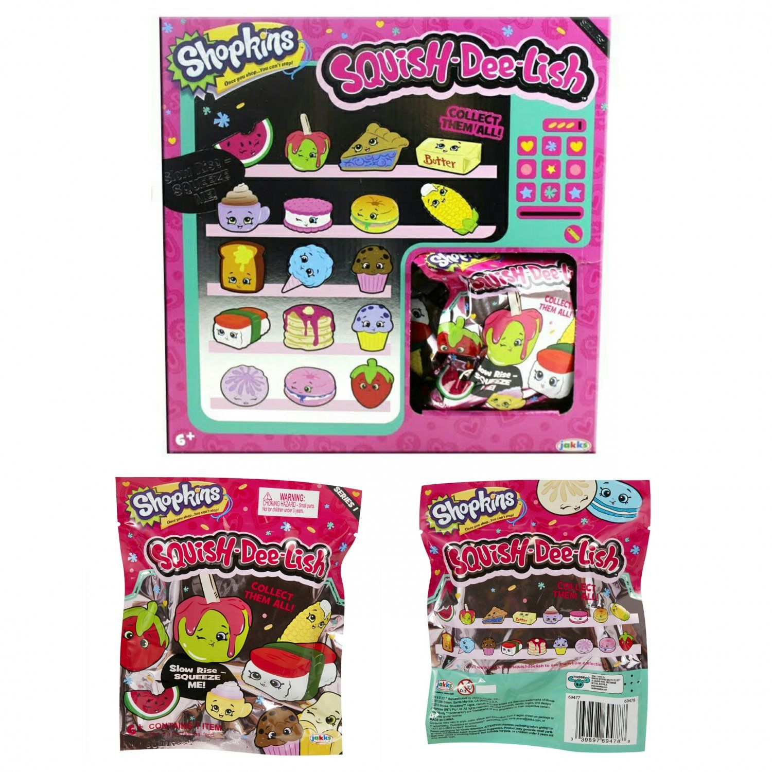 Squish Dee Lish Full Box : Squish-Dee-Lish Shopkins Slow-Rise Squishies Series 1 Blind Pack #69478 (Colors/Styles May Vary ...