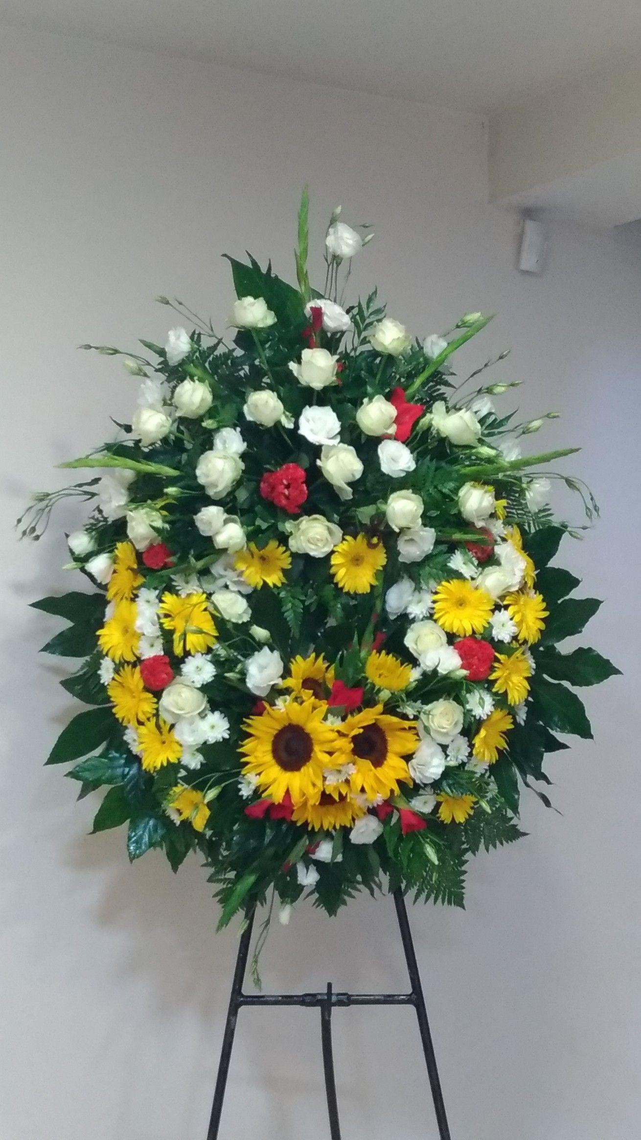 Pin by marialena nichols on hand creations pinterest flowers flower spray sympathy flowers flower designs flower arrangements funeral pots izmirmasajfo