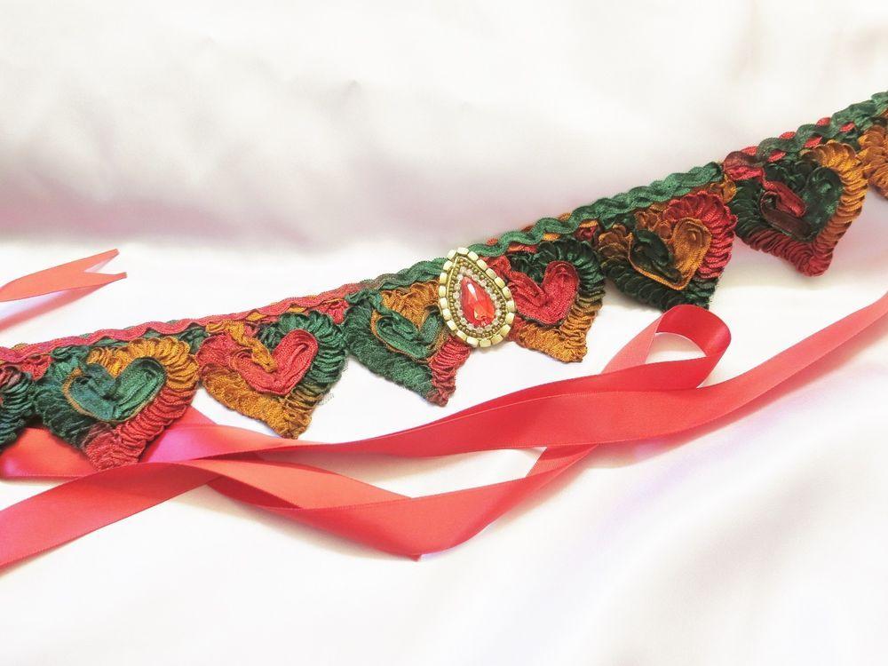 valentines day gift.belt,sash,ribbon closure