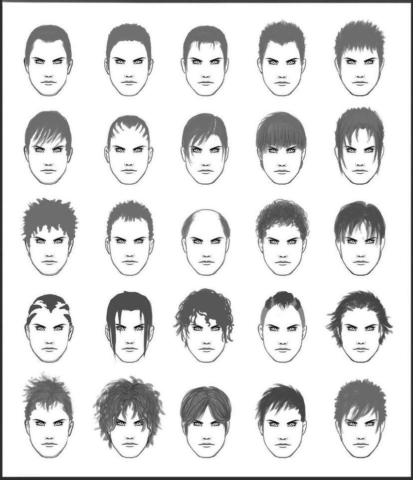 Men S Hair Set 1 Drawing Hair Tutorial How To Draw Hair Cartoon Hair